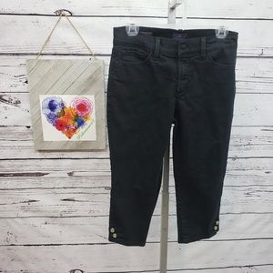 NYDJ Cropped Jeans with Side Details 4P